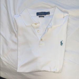 POLO Ralph Lauren white polo shirt M